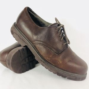 Mens Bass Devin Leather 8.5 Oxfords Shoes Brown